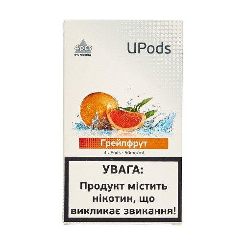 Картридж для Juul UPods - Grapefruit 50 mg 0.7 ml 4 шт фото товара